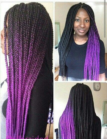 how to do ombre box braids purple ombre box braids do that hair pinterest