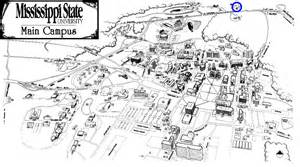 Ms State Campus Map by Gallery For Gt University Of Mississippi Campus Map