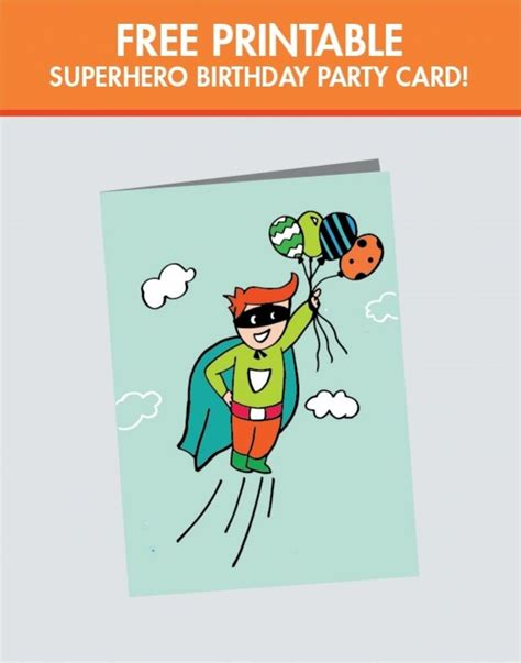 printable birthday cards boy a superhero birthday party for a super boy printable
