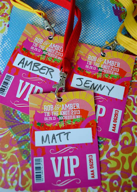 fanciful events summer themed parties festival wedding vip lanyards wedfest