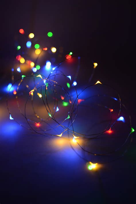 Led Fairy Lights Multi Color 20ft 60ct Colored Lights