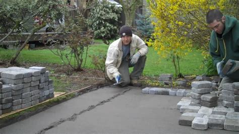 Backyard Stone Patio Ideas Installation Of A Paver Patio Youtube