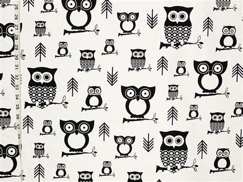 black and white owl pattern owl fabric last 2 yards 16 september 2013 brickhouse