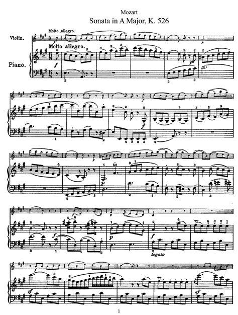 download mozart mp violin sonata in a major k 526 mozart wolfgang amadeus