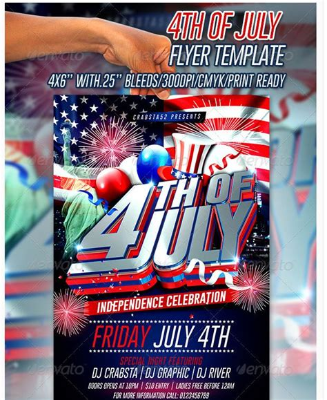 Fourth Of July Party Flyer Template 26 best images about independence day on sale