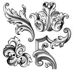 Laurel wreath vintage baroque frame border monogram floral heraldic