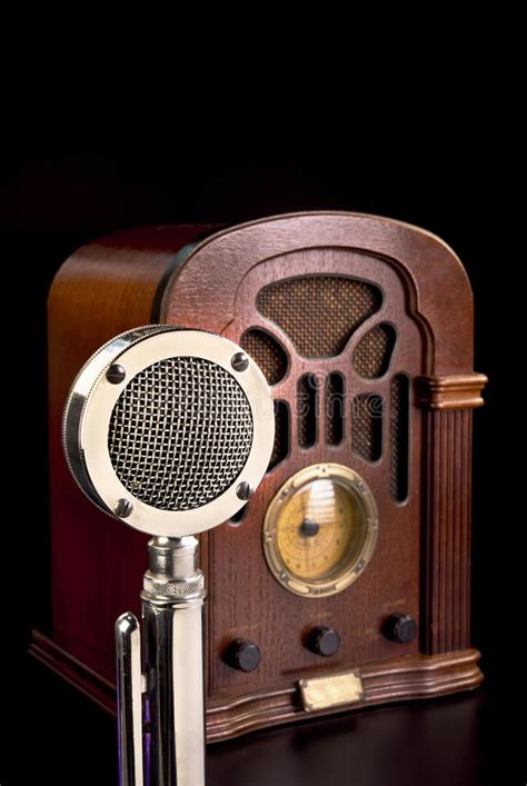 radio  microphone stock photo image