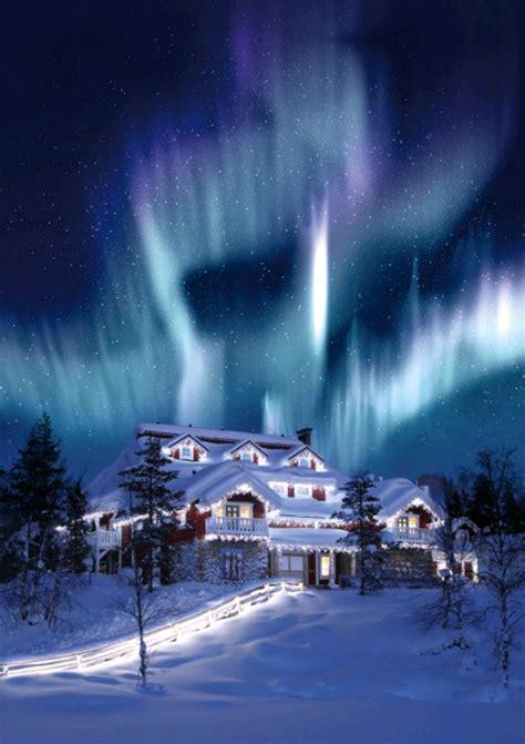 casa di babbo natale finlandia in lapponia per l boreale e il resort di babbo natale