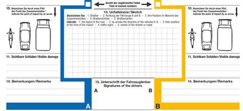 Auto Unfallbericht by Folgen Sie Dem Europ 228 Ischen Unfallbericht Um Autounf 228 Lle