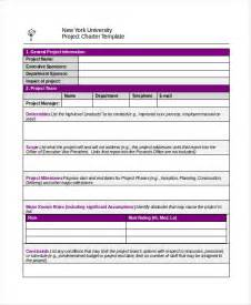 Project Charter Template Word by Project Charter Template 10 Free Word Pdf Documents