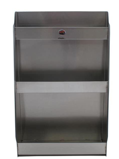 tow rax aluminum storage cabinet w 3 shelves 36 quot x