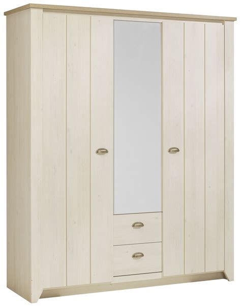 Grey Wood Wardrobe Gami Whitewashed Cherrywood And Grey Oak Wardrobe