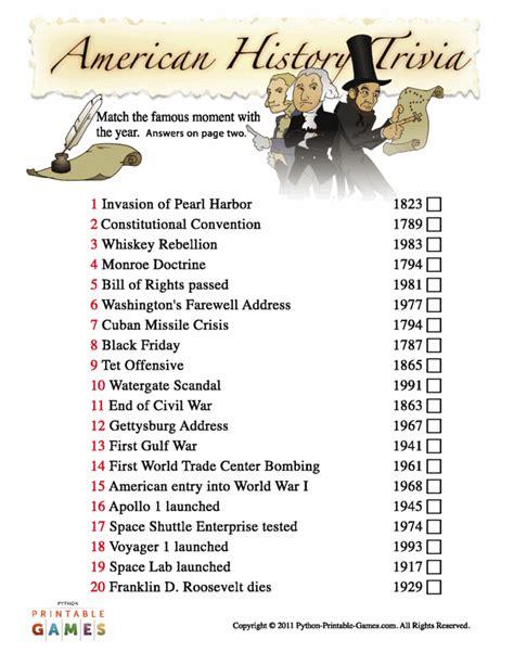 printable quiz about black history veterans day printable games patriotic holidays
