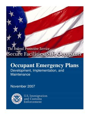 occupant emergency plan template occupant emergency plan gsa fill printable