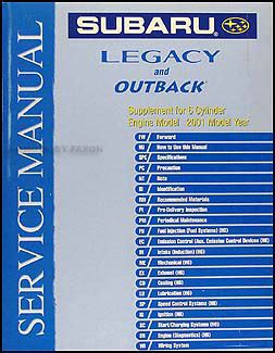 2001 subaru legacy and outback repair shop manual set original search