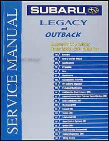 2001 subaru legacy amp outback 6 cylinder repair shop manual
