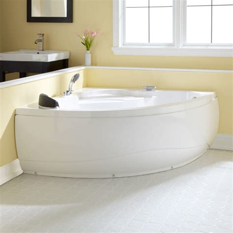 52 inch bathtub 52 quot angelique corner acrylic freestanding tub ebay