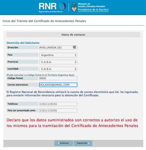 preguntas frecuentes correo argentino c 243 mo obtener el certificado de antecedentes penales arg