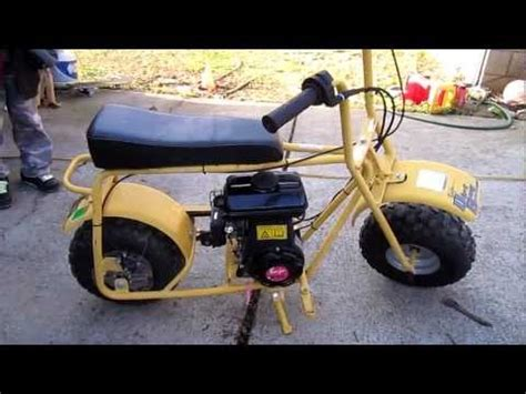 baja doodle bug mini bike repair 97cc videolike