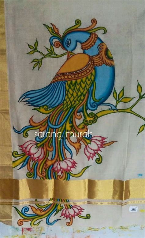 painting designs how to kerala mural painted saree simple craft ideas