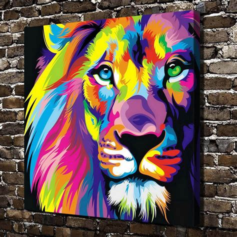 Painting A Mural On A Wall With Acrylic Paint image gallery lion abstract painting