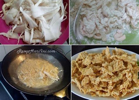 cara membuat jamur crispy enak resep jamur goreng crispy enak gurih dan renyah resep