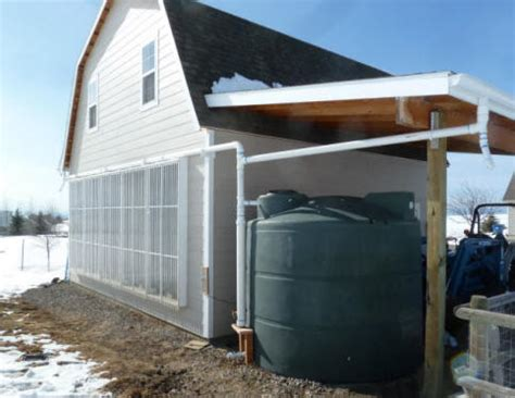 medium sized rain water collection system