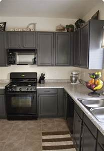 grey kitchen cabinets with black appliances kitchens with grey painted cabinets painting kitchen
