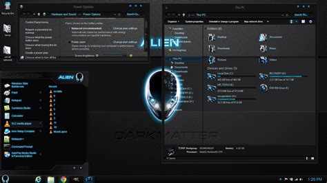 themes black for windows 8 1 windows 8 1 theme alien darkmatter by newthemes on deviantart