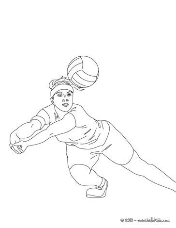 coloring pages of volleyball players volleyball player digging the ball coloring pages