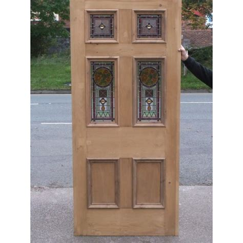 glass panel exterior door sd023 edwardian original stained glass 6 panel exterior door with floral centre panel