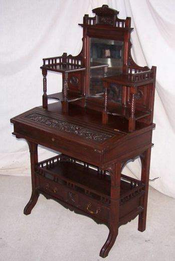 Vintage Small Desk by Antique Mahogany Or Writing Small Desk