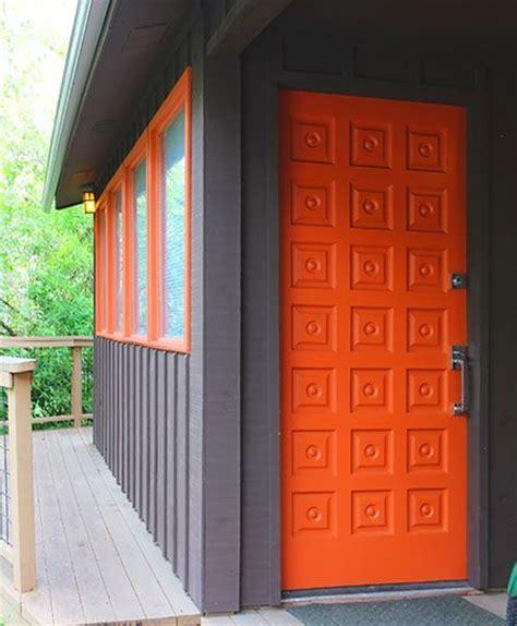 blue house orange door 25 best ideas about orange front doors on