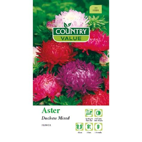 Country Value Marigold Mixed country value seed aster duchess mixed bunnings warehouse