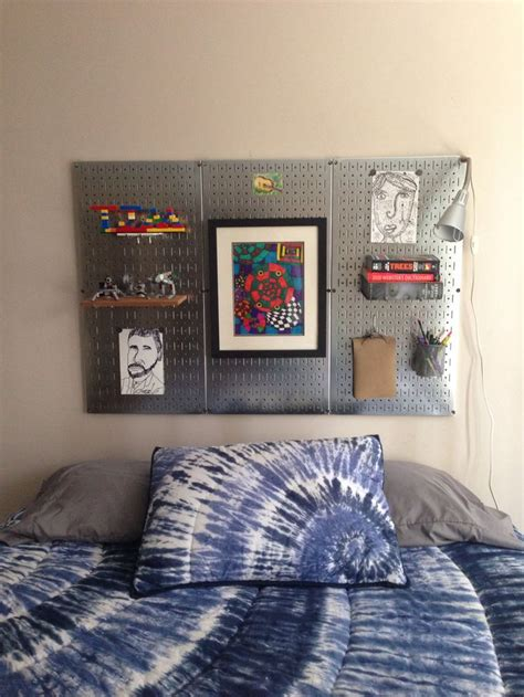 pegboard headboard diy magnetic metal pegboard headboard i am excited about