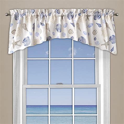 bathroom window valance seashore coral window curtain valance in blue bed bath