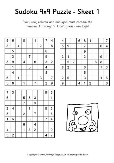 printable sudoku puzzles with instructions free printable sudoku for kids