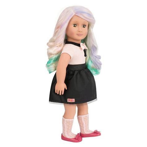 deco doll our generation 174 deco doll amya chalk hair target