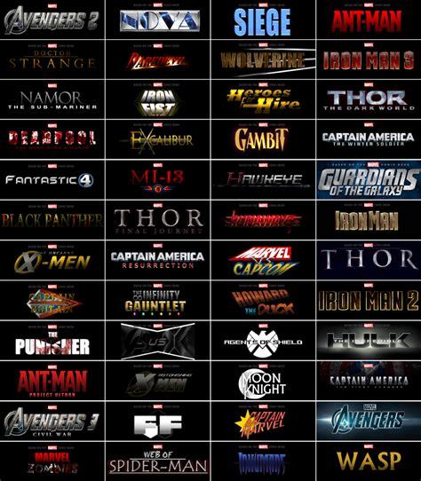 order to watch every marvel movie marvel movie timeline marvel logos fan future by superdude001 on deviantart