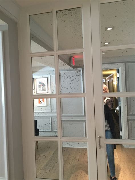 Mercury glass mirror closet doors   Master   Pinterest