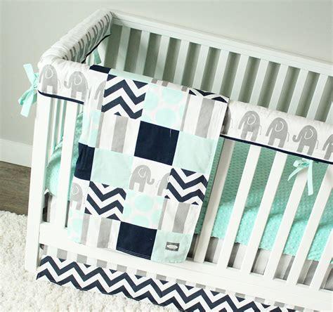 navy blue nursery bedding elephant baby bedding mint gray and navy blue nursery set