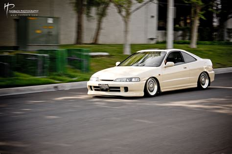 white acura integra with jdm front on 16 bbs rs