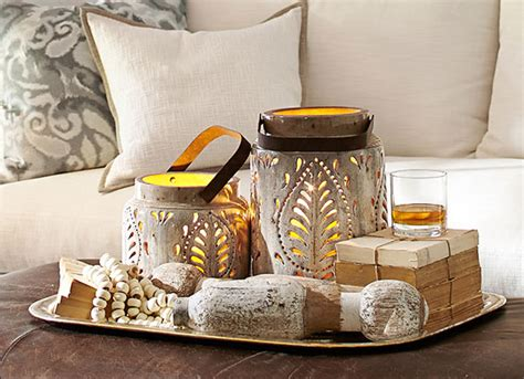 decor for coffee table how to decorate a coffee table pottery barn