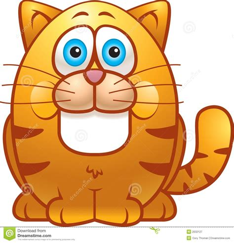 Fat Cat stock vector. Image of round, cartoon, clip