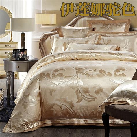luxury jacquard silkcotton bedding set queen king size