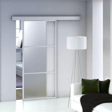 porte di vetro scorrevoli porta scorrevole marte in vetro satinato acquista da obi