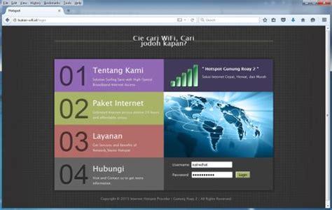 template login page hotspot mikrotik style