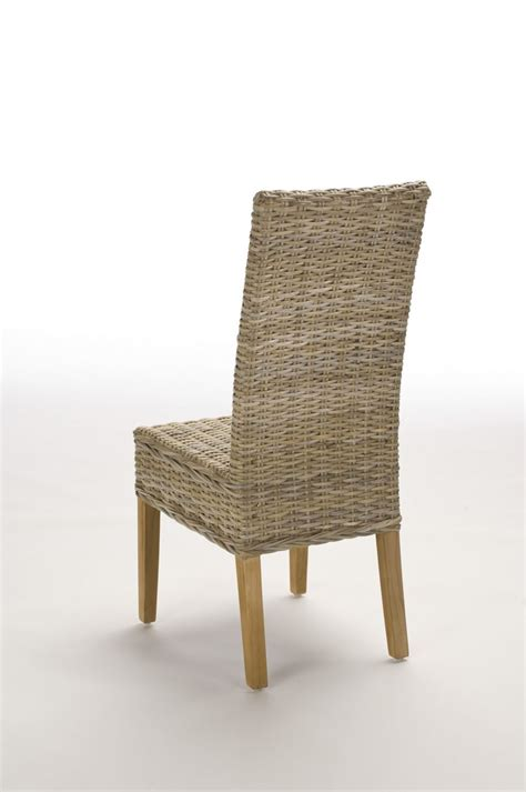 chaise en rotin gris chaise en rotin gris tress 233 kubu brin d ouest