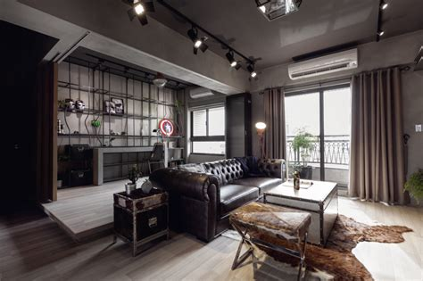 Bachelor Appartment by Balance Achieved For An Industrial Bachelor Pad