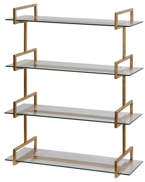 Gold Shelf by Auley Gold Wall Shelf 04038 Uttermost